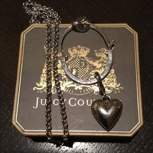 Juicy Couture Jewelry - Black label juicy charm holder necklace NWOT w/box